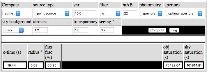 MegaCam Direct Imaging Exposure Time Calculator (DIET)