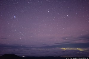 Pleiades rising caught by the CFHT cloud cam