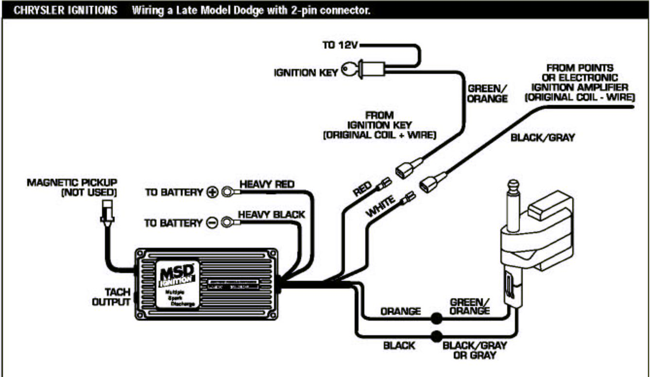 Msd Coil Wiring Diagram : The first file wiring pdf is from msd itshould have