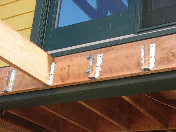 Composite deck composite deck hangers for Balcony joists